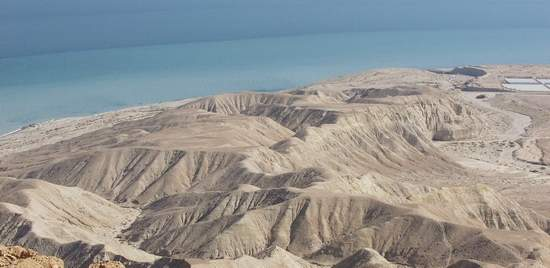 View of Dead Sea over Mountains