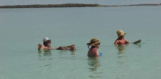 Floating in Dead Sea