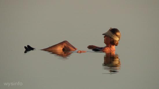 Woman relaxing in the Dead Sea
