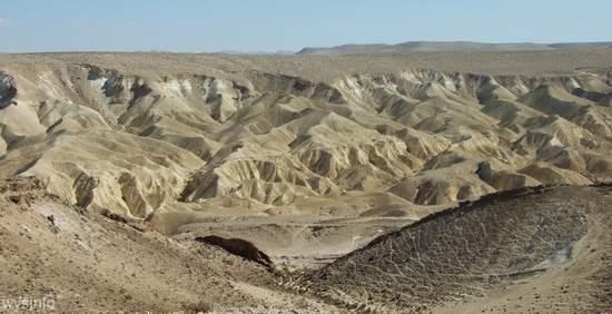 Hills overlooking the Ein Avdat Canyon