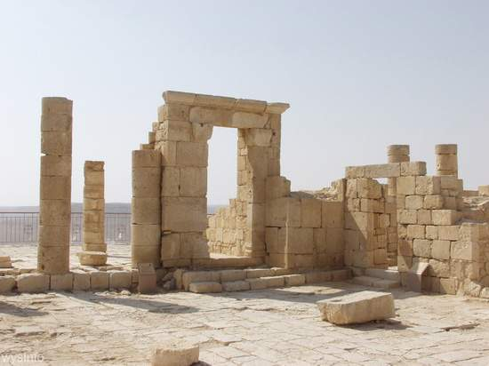 Remains of Nabataean Shrine in Avdat