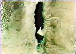 Satellite View of Dead Sea - Clouds Blocked by Mountains